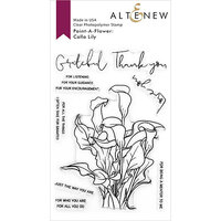 Altenew - Clear Photopolymer Stamps - Paint A Flower - Calla Lily Outline