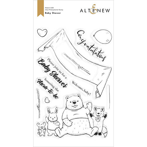 Altenew - Clear Photopolymer Stamps - Baby Shower