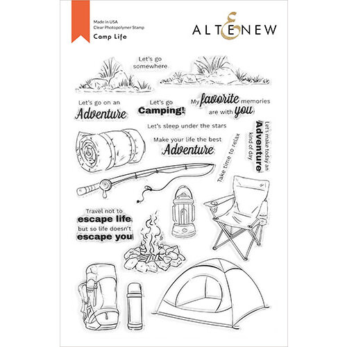 Altenew - Clear Photopolymer Stamps - Camp Life
