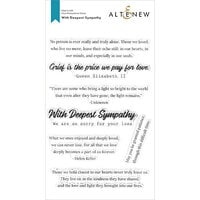 Altenew - Clear Photopolymer Stamps - With Deepest Sympathy