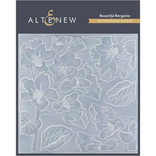 Altenew - Embossing Folder - 3D - Beautiful Bergenia