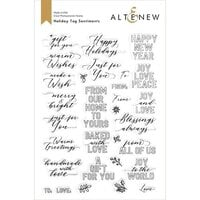 Altenew - Clear Photopolymer Stamps - Holiday Tag Sentiments