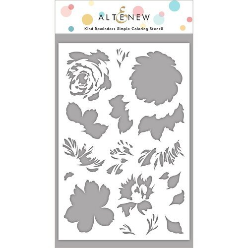 Altenew - Simple Coloring Stencil - Kind Reminders