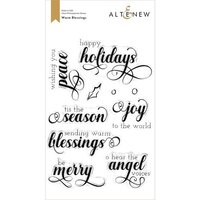 Altenew - Clear Photopolymer Stamps - Warm Blessings