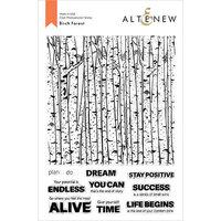 Altenew - Clear Photopolymer Stamps - Birch Forest