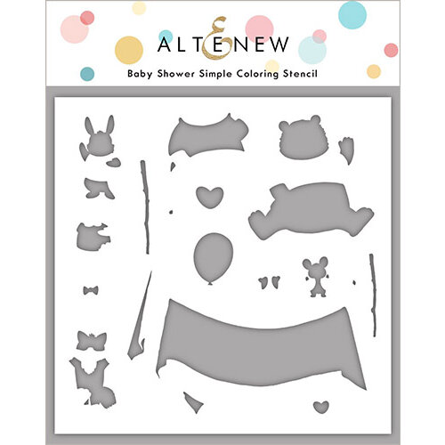 Altenew - Simple Coloring Stencil - Baby Shower