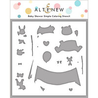 Altenew - Simple Coloring Stencil - Baby Shower
