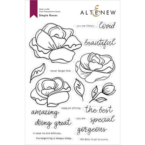 Altenew - Clear Photopolymer Stamps - Simple Roses