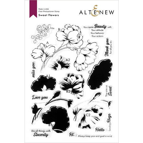 Altenew - Clear Photopolymer Stamps - Sweet Flowers