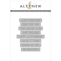 Altenew - Dies - Essential Sentiment Strips
