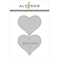 Altenew - Layered Gift Tag - Dies - Heart