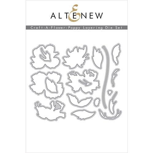 Altenew - Layering Dies - Craft A Flower - Poppy