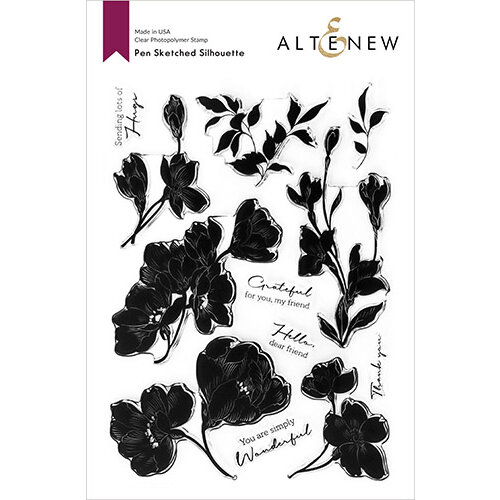 Altenew - Clear Photopolymer Stamps - Pen Sketched Silhouette