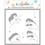 Altenew - Simple Coloring Stencil - A Little Bit of Love
