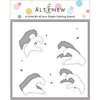 Altenew - Simple Coloring Stencil - A Little Bit of Love