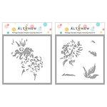 Altenew - Simple Coloring Stencil - 2 in 1 Set - Vintage Garden