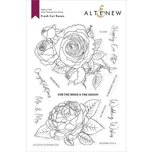 Altenew - Clear Photopolymer Stamps - Fresh Cut Roses