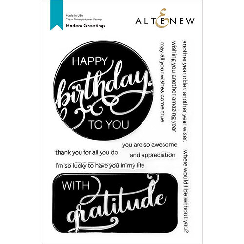 Altenew - Clear Photopolymer Stamps - Modern Greetings