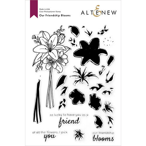 Altenew - Clear Photopolymer Stamps - Our Friendship Blooms