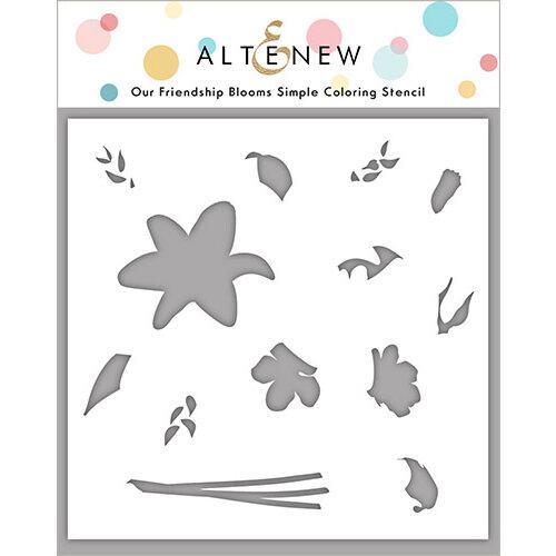 Altenew - Coloring Stencil - Our Friendship Blooms