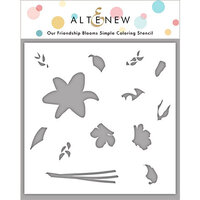 Altenew - Simple Coloring Stencil - Our Friendship Blooms