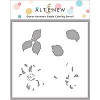Altenew - Simple Coloring Stencil - Queen Anemone