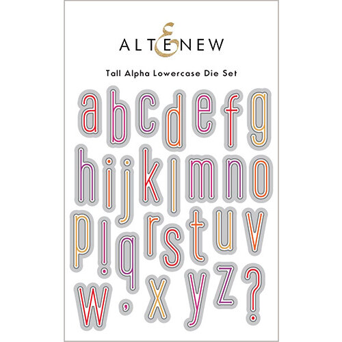 Altenew - Dies - Tall Alpha Lowercase