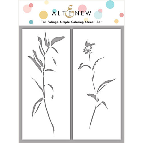 Altenew - Simple Coloring Stencil - 2 in 1 Set - Tall Foliage Set