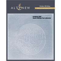Altenew - Debossing Folder - Modern Birthday Faux Letterpress