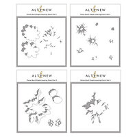 Altenew - Simple Layering Stencil - 4 in 1 Set - Flower Bunch