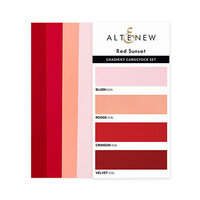 Altenew - Gradient Cardstock Set - Red Sunset