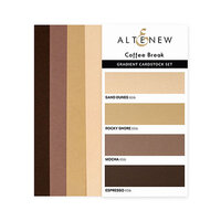 Altenew - Gradient Cardstock Set - Coffee Break