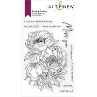 Altenew - Clear Photopolymer Stamps - Paint A Flower - Coral Sunset