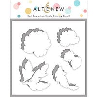 Altenew - Simple Coloring Stencil - Book Engravings