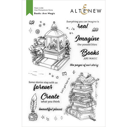 Altenew - Clear Photopolymer Stamps - Books Are Magic