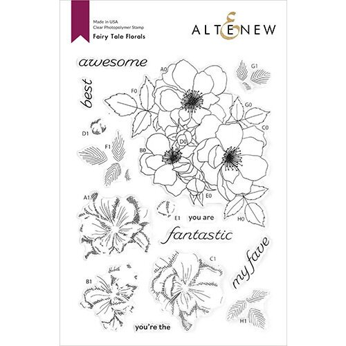 Altenew - Clear Photopolymer Stamps - Fairy Tale Florals
