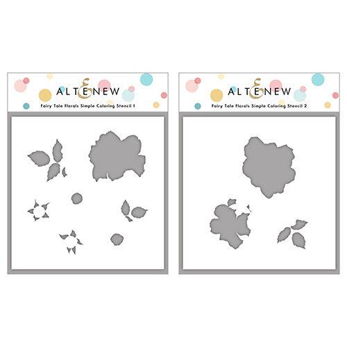 Altenew - Simple Coloring Stencil - 2 in 1 Set - Fairy Tale Florals
