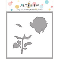Altenew - Simple Coloring Stencil - Fairy Tale Rose