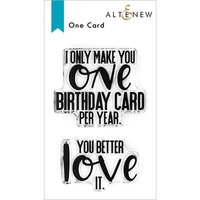 Altenew - Clear Photopolymer Stamps - One Card