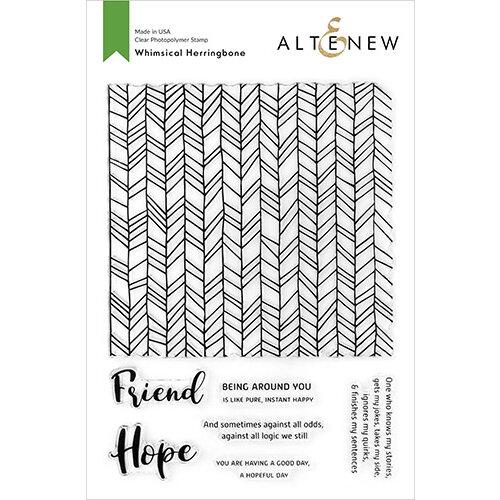 Altenew - Clear Photopolymer Stamps - Whimsical Herringbone