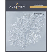 Altenew - Embossing Folder - 3D - Dancing Peacock