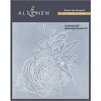 Altenew - Embossing Folder - 3D - Ranunculus Bouquet