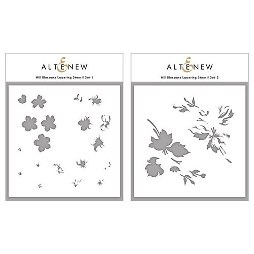 Altenew - Layering Stencil - 2 in 1 Set - Hill Blossoms