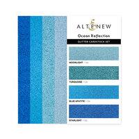 Altenew - Glitter Gradient Cardstock Set - Ocean Reflection