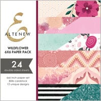 Altenew - Wildflower Collection - 6 x 6 Paper Pack - 24 Sheets