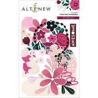 Altenew - Wildflower Collection - Die Cut Cardstock Pieces - Ephemera - Pink Posy