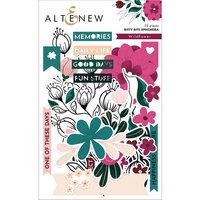 Altenew - Wildflower Collection - Die Cut Cardstock Pieces - Ephemera - Bitty Bits
