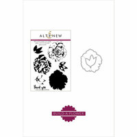 Altenew - Die and Clear Acrylic Stamp Set - Build A Flower - Camellia