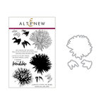 Altenew - Die and Clear Acrylic Stamp Set - Build A Flower - Aster