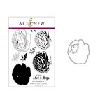 Altenew - Die and Clear Acrylic Stamp Set - Build A Flower - Ranunculus